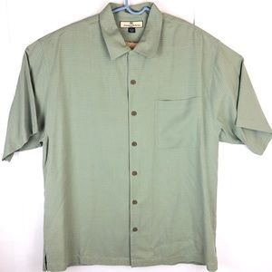 Tommy Bahama Button Up Shirt Mens Size L 100% Silk